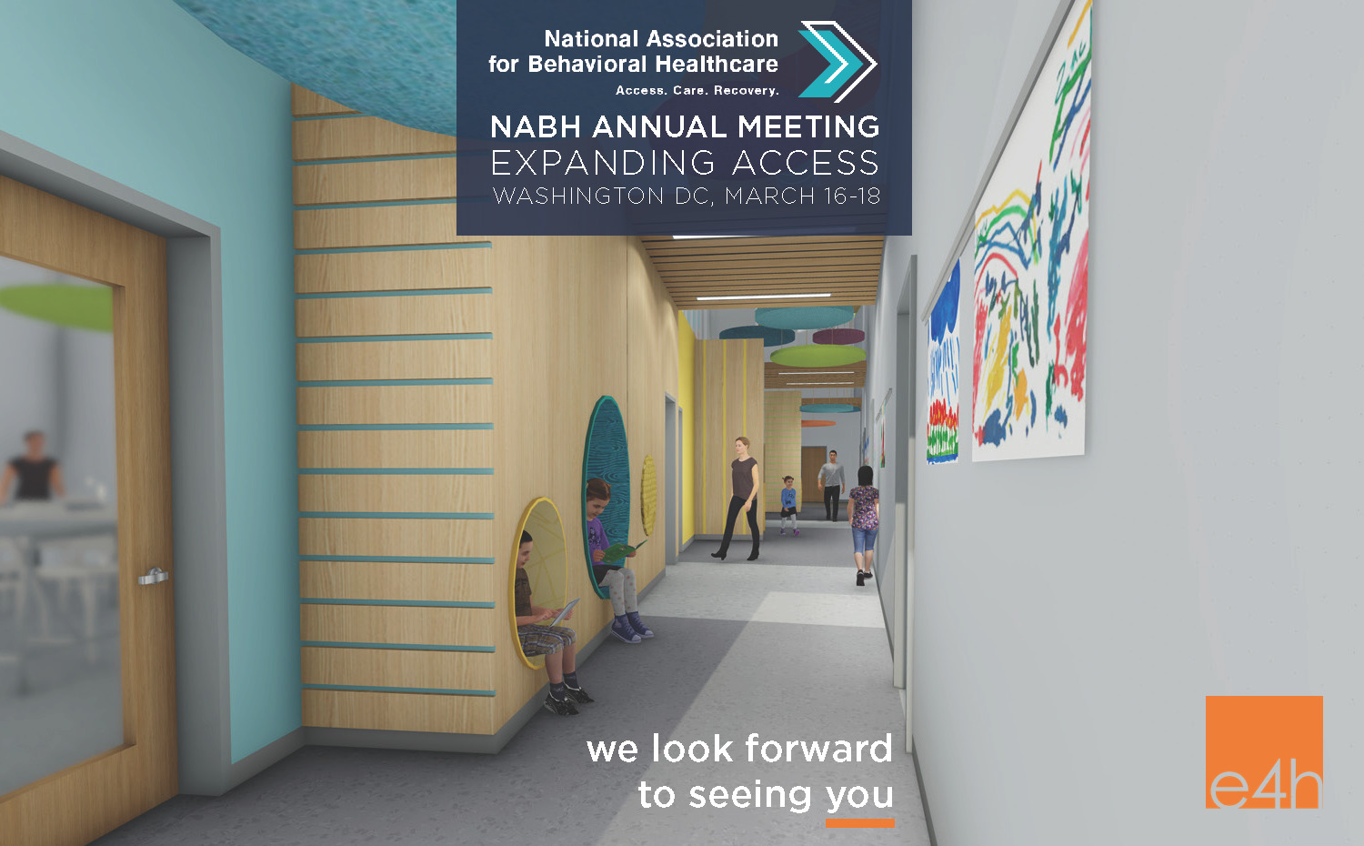 Rendering - hallway of behavioral health facility